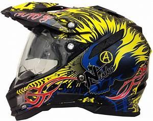 Motocross Helm Mit Visier : motorradhelm mx enduro quad helm schwarz gelb mit visier ~ Jslefanu.com Haus und Dekorationen