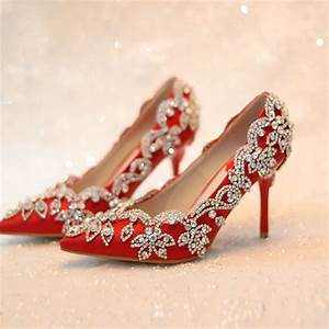 women pumps 2017 red bridal shoes high heels wedding shoes ...