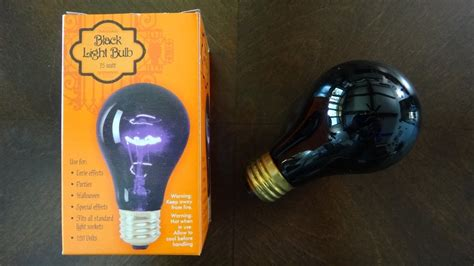 walmart 75watt incandescent black light bulb newer youtube