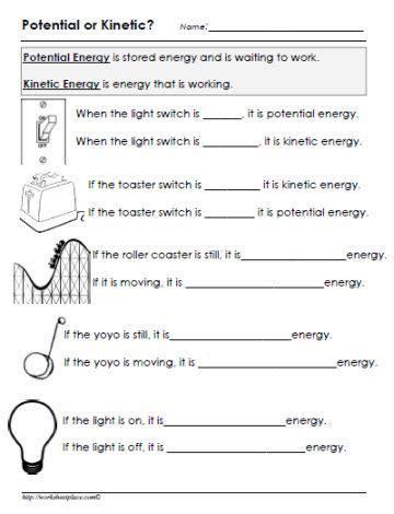 potential or kinetic energy worksheet homeenergy home