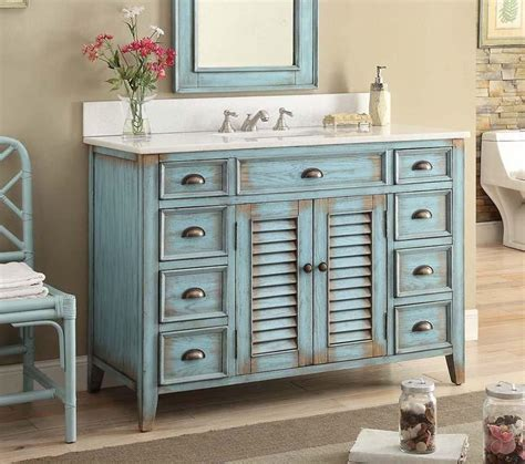 46 Inch Bathroom Vanity Tops by 46 Quot Benton Collection Distressed Blue Abbeville Bathroom