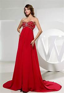 a line sweetheart court train chiffon evening dress with With robe mariage femme enceinte