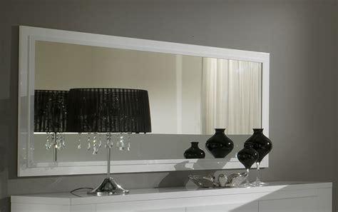 miroir rectangulaire de salle 224 manger laqu 233 blanc destockage promotions