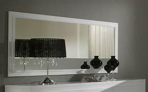 miroir rectangulaire de salle a manger laque blanc diva With miroir de salle a manger rectangulaire