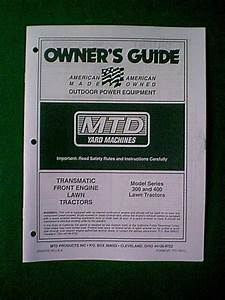 Mtd Yard Machine Tractor 300  U0026 400 Series Manual