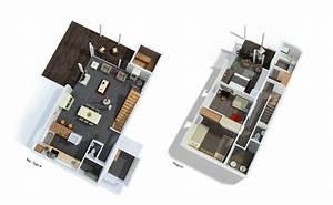 plan maison 60m2 With plan de maison 120m2 7 maison cube 100 hci constructions