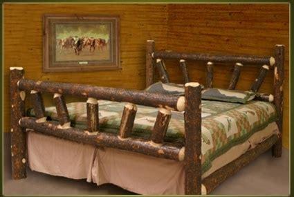 brand  rustic furniture bark  lodge pole pine log bed