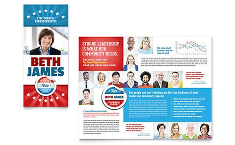 Election Brochure Template by Election Brochure Template Word Publisher