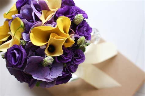 purple  yellow wedding flowers bouquet wallpaper