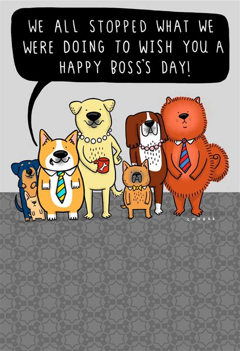 stopped goofing  funny bosss day card