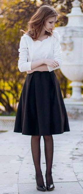 17 best ideas about Black Midi Skirt on Pinterest   Pleated skirt outfit Midi skirt outfit and ...