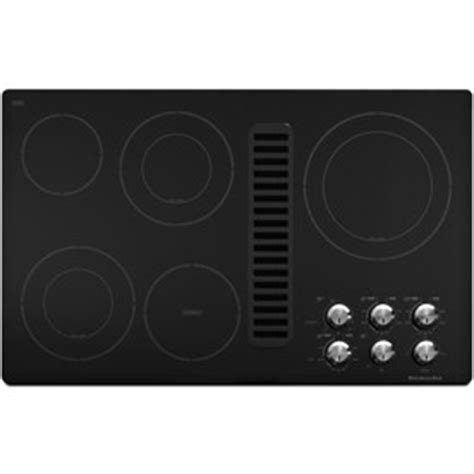 electric cooktop with vent kitchenaid kecd867xbl 36 quot smoothtop electric cooktop with