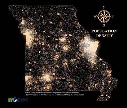 Population Density Missouri Counties Demographics Mo Convention