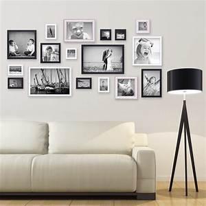 Große Bilder Wohnzimmer : 17er set bilderrahmen f r grosse bilderwand massivholz ~ Michelbontemps.com Haus und Dekorationen