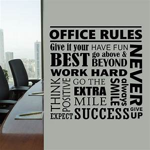 office rules collage quote wall lettering vinyl office With cheap vinyl lettering for walls