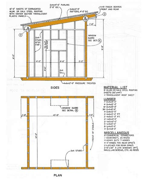 8 X 10 Slant Roof Shed Plans by 10 215 12 Lean To Storage Shed Plans How To Construct A