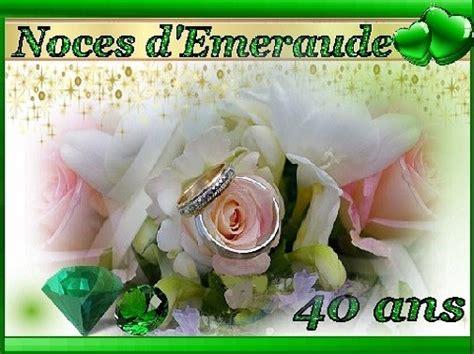 anniversaire de mariage 40 ans poeme 35 ans de mariage noces d emeraude