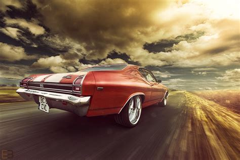 1969 Chevy Chevelle Wallpaper by Wallpaper Chevrolet Chevelle Ss 1969 Sky Back View