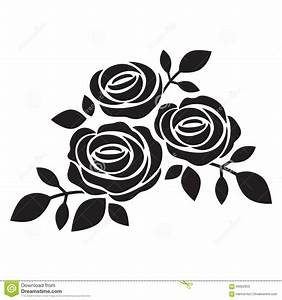 Black Silhouette Of Rose Stock Vector - Image: 56062950