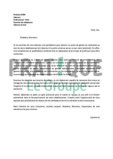 lettre motivation cuisine collectivité lettre motivation apprentissage cuisine 28 images pdf