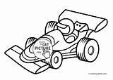Coloring Racing Printable Transportation sketch template