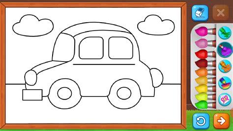 mewarnai gambar mobil untuk anak anak