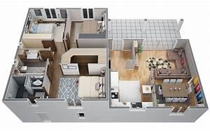 plan maison moderne 100m2 solutions pour la decoration With plan maison moderne 100m2