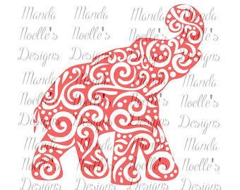 alabama floral elephant silhouette  svg instant