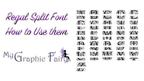 regal font split letters    cricut design space youtube