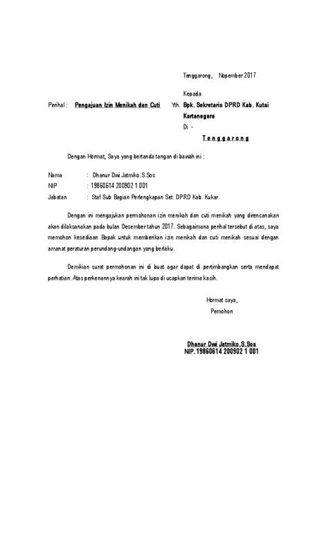 Suratresmi.id » surat izin » 15 contoh surat izin orang tua untuk berbagai keperluan. (DOC) Surat Izin Menikah dan Cuti Menikah   Dhanur Dwi Jatmiko - Academia.edu