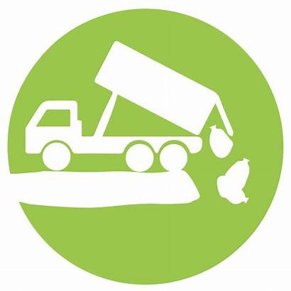 Waste Icon Landfill Clipart Routine Disposal Facility