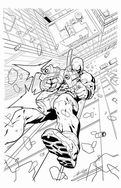 Deadpool Coloring Pages Printable Marvel Adult Prints