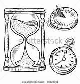 Hourglass Vector Doodle Sundial Shutterstock Illustration Royalty Tattoo Coloring Pages sketch template