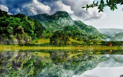 backyard landscaping gambar pemandangan alam indah