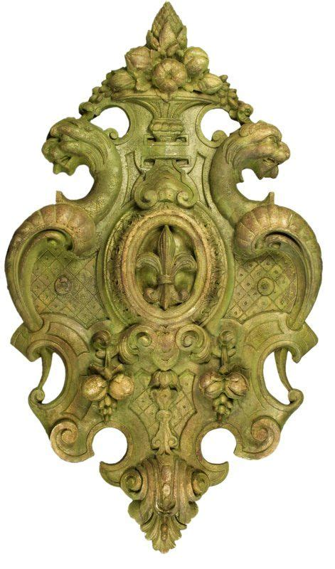 This wall decoration can be used in combination with other architectural decorative wall elements as a centerpiece element. Victorian Crest Wall Décor | Garden wall art, Outdoor wall decor, Wall art decor