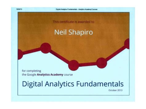 digital analytics certification digital analytics fundamentals certificate