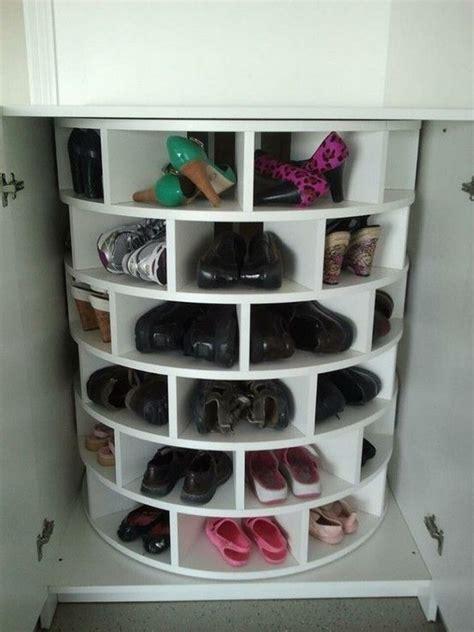 Diy Lazy Susan Shoe Storage  The Ownerbuilder Network