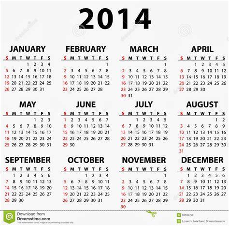 Free Calendar Templates 2014 To Print