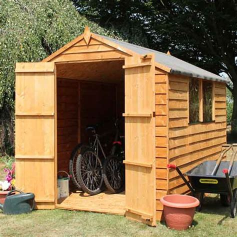 8x6 wood storage shed 8x6 wood garden shed door apex roof felt sheds