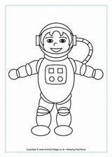 Astronaut Colouring Coloring Space Astronauts Printable Boy Toddler Rocket Blank Smiling Moon Activityvillage Activity Village Explore Word sketch template