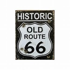 Plaque Vintage Metal : plaque publicitaire metal 30x40cm plate historic old route 66 vin ~ Teatrodelosmanantiales.com Idées de Décoration