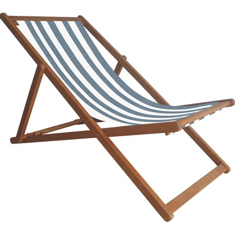 Outdoor Deck Chairs by Mimosa Outdoor Folding Timber Deck Chair Blue White Striped
