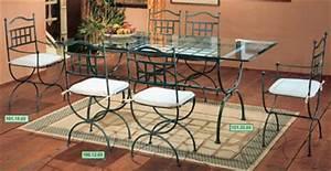 Ameublement terrasse salle a manger fer forg for Meuble salle À manger avec chaise fer forgà