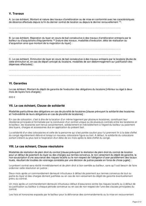 Lettre De Resiliation Bail Meuble Lettre Preavis Appartement Non Meuble 7 Epub