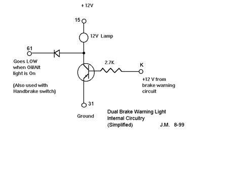 Brake Warning Light Switch Diagram by Thesamba Beetle Late Model 1968 Up View