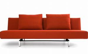 sleeper sofa with 2 cushions hivemoderncom With modern sleeper sofa