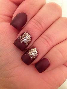 Matte burgundy deep red nails | Makeup | Pinterest | Deep ...