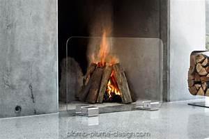 Pare Feu En Verre : pare feu de chemine design en verre et inox bebop ~ Dailycaller-alerts.com Idées de Décoration