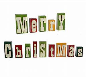 decorative merry christmas raised letter wooden blocks by With merry christmas wooden letters