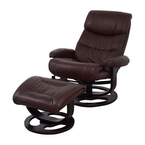 brown leather chair and ottoman 59 off macy 39 s macy 39 s aby brown leather recliner chair